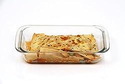 VERTIS Borosilicate Rectangular Baking Dish, 1 Litre