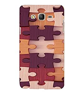 PRINTVISA Abstract Puzzle Pattern Case Cover for Samsung Galaxy On 7