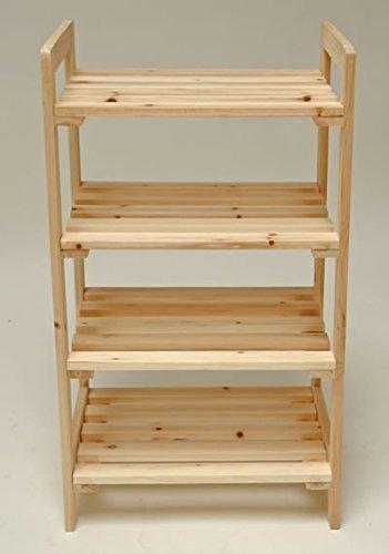 Stabiles-Holzregal-Massivholzregal-Bcherregal-Kellerregal-Regal-mit-4-Bden-45x33x79cm-Massivholz-Douglasie