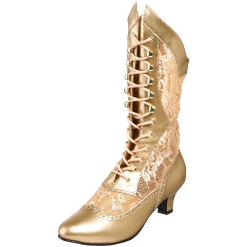 High-Heels-Stiefeletten: Funtasma Stiefelette DAME-115 - Gold 37,5 EU