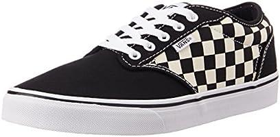 Vans Men's Checkers, Black and Natural Sneakers - [10 UK/India (44.5 EU) (11 US)]