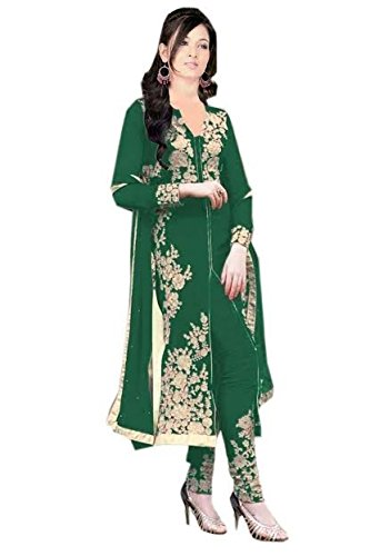 Sanjana Design Women\'s fashino Georgette dress material ( KS4006_Free Size_Green)