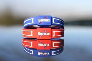 "Genius 6"" Reversable Ionic Wristband - Blue & Red"