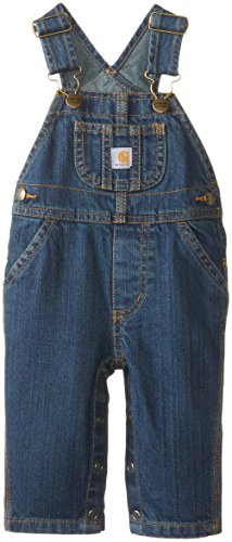 Carhartt Baby-Boys Washed Denim Bib Overall, Worn In Blue, 24 Months front-648439