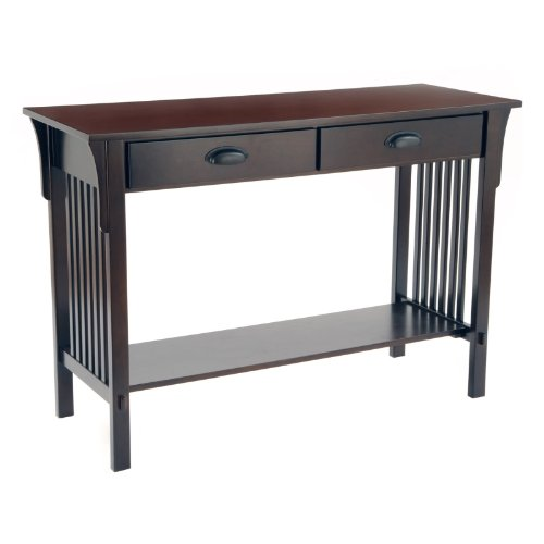 Cheap Bay Shore Mission Sofa/Console Table, Espresso (F68404)