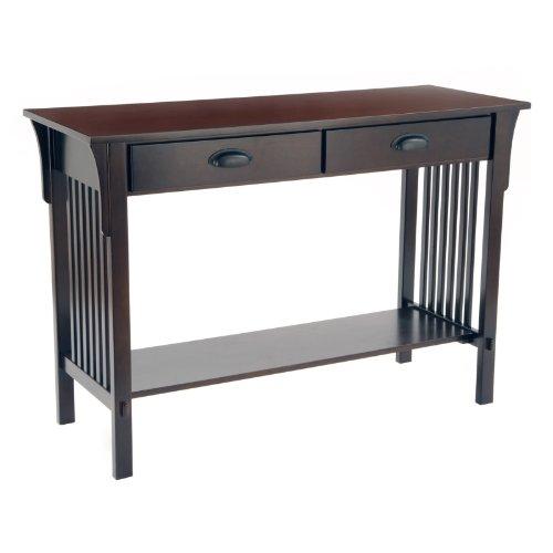 Cheap Bay Shore Mission Sofa/Console Table, Espresso (F68404)