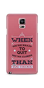 Casenation Dont Quit Samsung Galaxy Note 4 Glossy Case