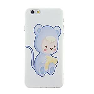 CaseBee® - Kind in Cute Mouse with Cheese iPhone 6 (4.7) case - Perfect Gift (Package includes Screen Protector)