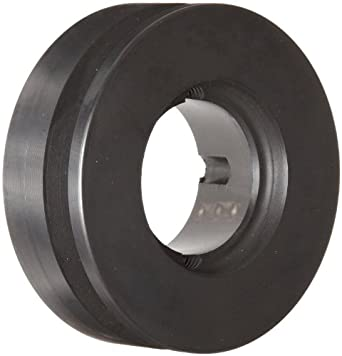 "Martin 1 3V 315 TB Narrow V-Belt Drive Sheave, 3V Belt Section, 1 Groove, 1108 Taper Bushing required, Class 30 Gray Cast Iron, 3.15"" OD, 7876 max rpm, 3.1"" Pitch Diameter"