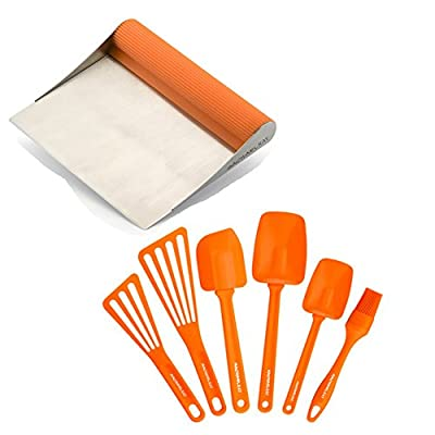 Premier Rachael Ray Scraper Shovel Spatula Set with Bonus 6 Piece Utensil Set