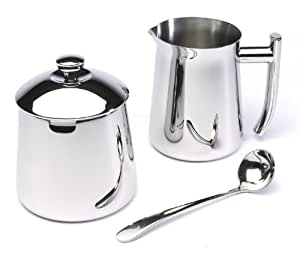 Frieling 18/10 Stainless Steel Creamer and Sugar Bowl Set