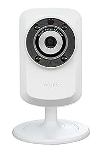 D-Link DCS-932L/E Caméra réseau IP domestique sans fil à vision diurne + nocturne avec mydlink 128 MB Blanc