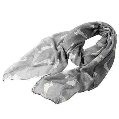 Eli Fashion(TM) Women Fashion Dog Pattern Soft Animal Print Shawl Scarf Wrap
