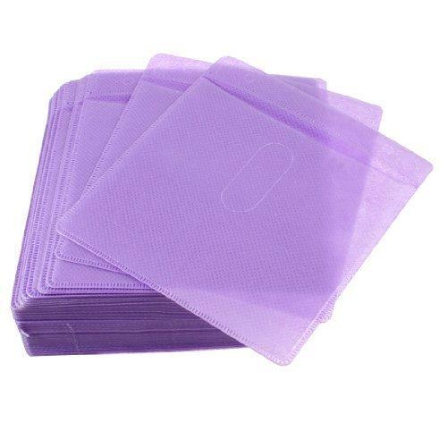 100-piezas-macizo-plastico-morado-doble-cara-hogar-cd-compacto-disco-bolsa-almacenaje