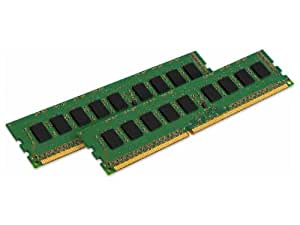 Kingston ValueRAM 16GB Kit (2x8GB Modules) 1333MHz DDR3 PC3-10666 ECC CL9 DIMM Intel Certified Server Memory KVR13E9K2/16I