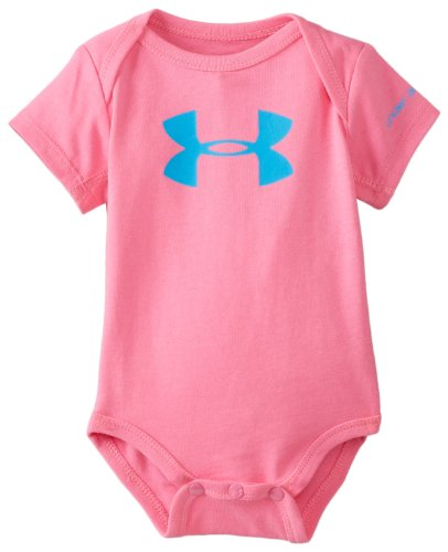 Under Armour Baby-Girls Newborn Core Logo Baselayer, Chaos/Electric Blue, 3-6 Months front-942831