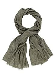 Autograph Lightweight Modal Blend Self Striped Scarf with Silk