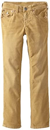 True Religion Boys 8-20 Jack Classic 5 Pocket Cord, Straw, 12
