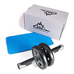 Black Mountain Products Dual Stability Ab Wheel with Knee Mat