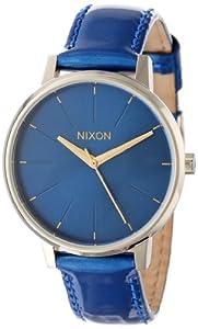 Nixon Women's Kensington Leather Watch One Size Blue