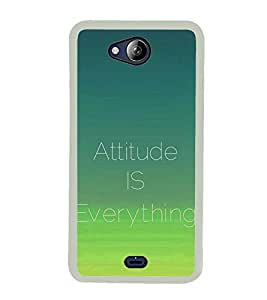 Attitude is Everything 2D Hard Polycarbonate Designer Back Case Cover for Micromax Canvas Play Q355
