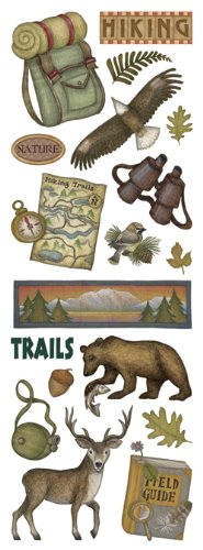 Stickers-Great Outdoors Hiking Icon