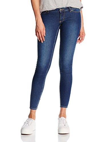 Cheap Monday Low Spray Mid Blue, Jeans Donna, Blu, W28/L29