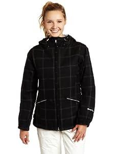 Betty Rides Women's Window Pane Ll Nicole Parka Snowboard/Ski Jacket (Black, Small)