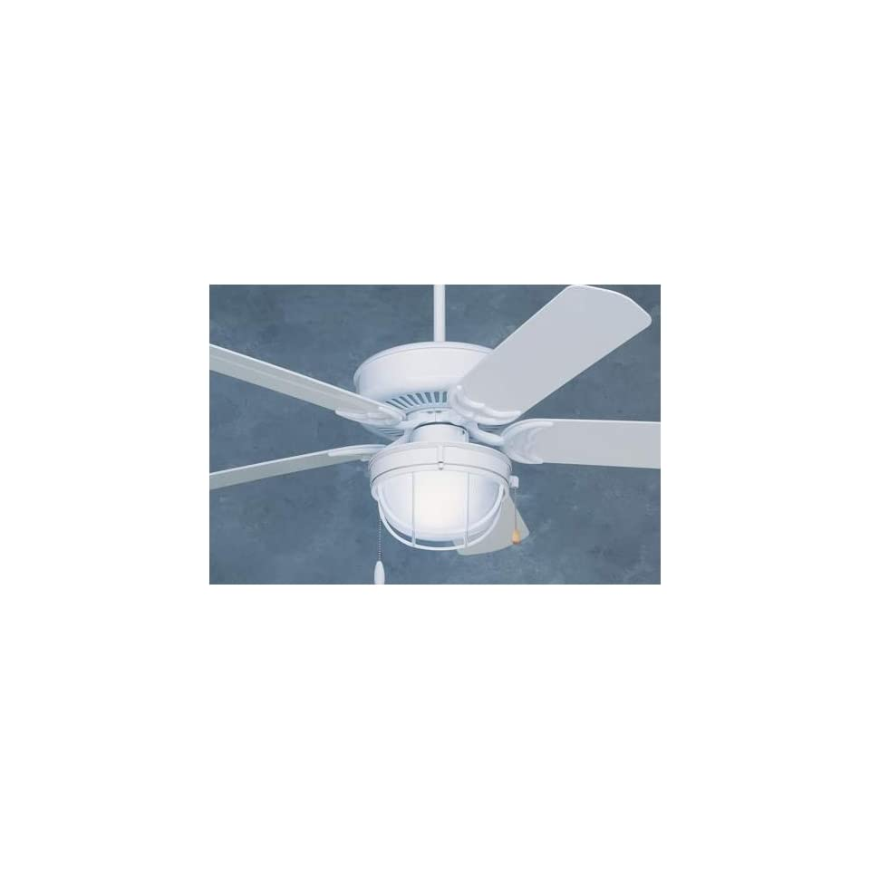 Emerson Ceiling Fans Wet Location Model CF653WW in Gloss White. Wet rated indoor/outdoor fan.