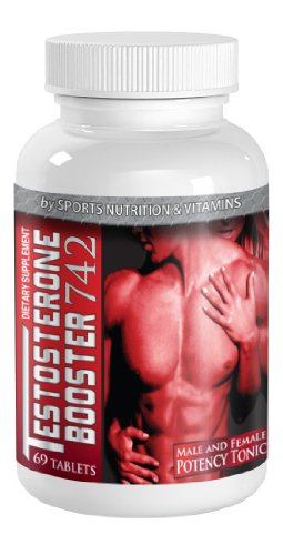 Sports Nutrition & Vitamins All Natural Testosterone Booster 742 Potency Tonic, Muscle Building for Male and Female. Made in USA