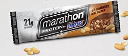 Snickers Marathon Protein Bar Chocolately Nut Burst 12 Bars