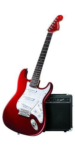 Fender Starcaster Electric Guitar Pack with Amp and Accessories, Candy Apple Red