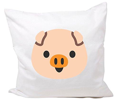 """'Federa 40x 40cm Smiley """"testa di maiale Emoji, Smiley, Trend, Cult, simpatico, dolce, Hipster, Cool, cuscino, cuscino cervicale, decorativa, federa in mikrofasser"""