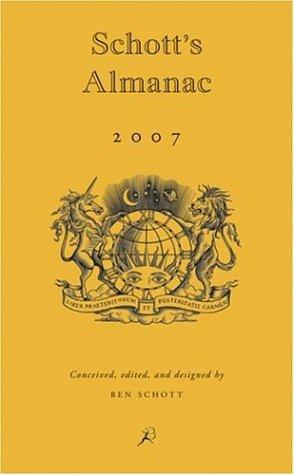 Schott's Almanac 2007, Ben Schott