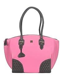 Adamis Beautiful Designed Handbag (Pink_B706)