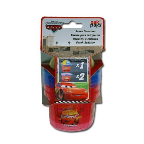 Disney Cars McQueen 3-Piece Set Snack N Store Food Storage Container - 1
