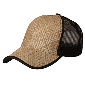 mg s straw weave trucker snapback baseball cap hat