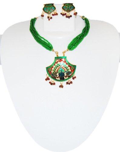 Thewa Rajasthani Necklace Set