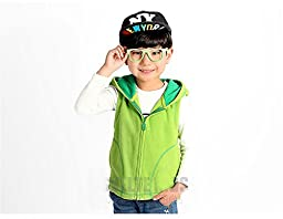 Bnspl Unisex kids\' Candy Colored Zipper Vest with Hood