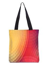 Snoogg Colorful Circles Digitally Printed Utility Tote Bag Handbag Made Of Poly Canvas - B01C8LXBA4