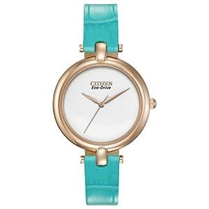 Citizen Women's EM0253-20A Silhouette Straps Analog Display Japanese Quartz Blue Watch