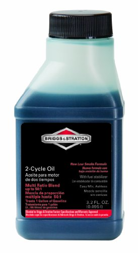 Briggs & Stratton 100107 2-Cycle 3.2-Ounce Bottle of Easy Mix Ashless Oil for Up to 50:1 Mix Ratio (Briggs 2 Cycle compare prices)