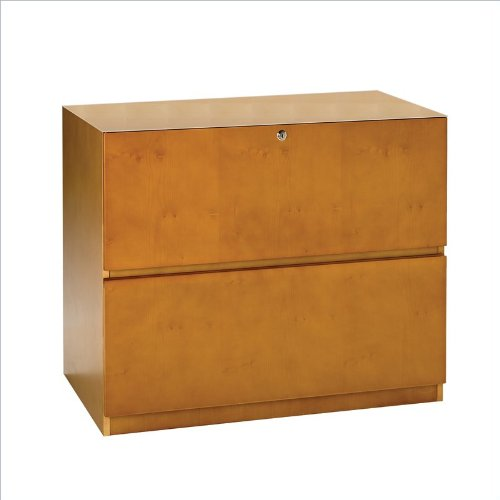 Lateral File- 2 Drawer (Lateral File, Unfinished Top) Cherry Veneer