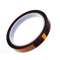 12mm Kapton / Polyimide Adhesive Tape for 3D Printer & Reprap Batteries Applications.