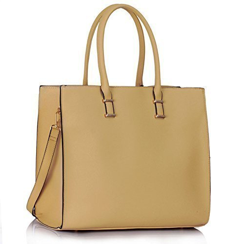 Womens Large Fashion Tote Handbag Designer Bags Faux Leather