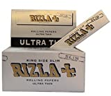 RIZLA 40 Booklets Rizla Silver King Size Slim Rolling Papers Free P&P