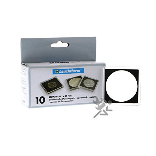 10-Lighthouse-Square-41mm-2-x-2-Quadrum-Snaplock-Coin-Holder-Capsules-for-American-1oz-Silver-Eagle