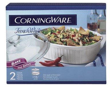 CorningWare 2-1/2-Quart Oval Casserole Dish with Glass Lid