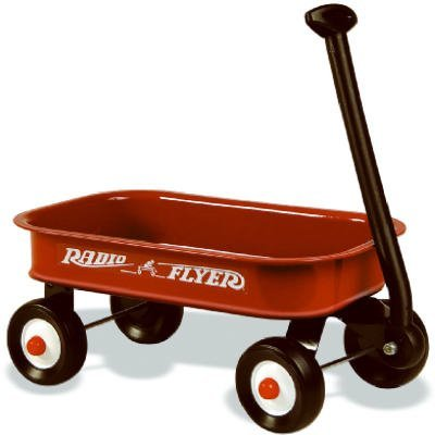 Radio Flyer Little Red Wagon 12-1/4 In. X 7-1/8 In. X 1-7/8 In. Ages 2 Steel - B00GRTG7N2