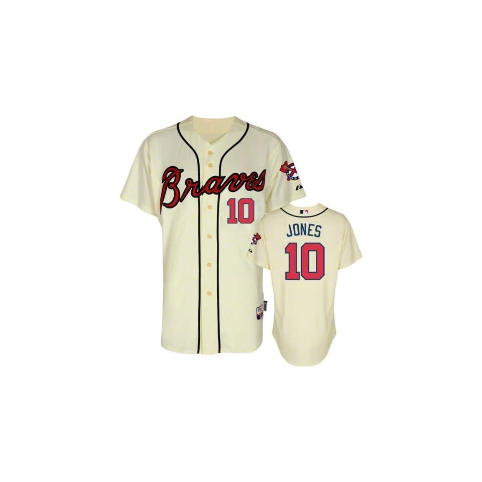 Atlanta Braves Authentic 2012 Chipper Jones Alternate Cool Base Jersey